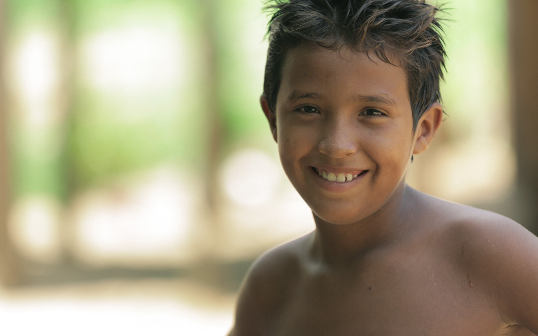 Smiling kid in Santarém