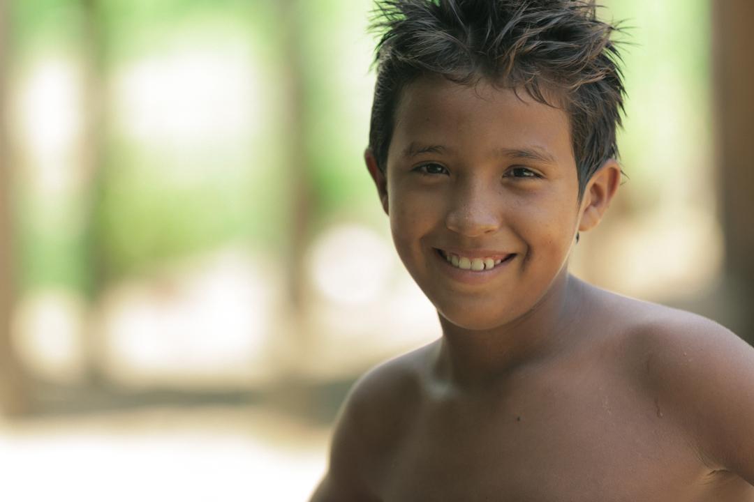 Smiling kid in Santarém